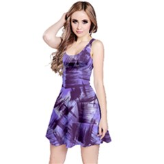 Purple Paint Strokes Reversible Sleeveless Dress by KirstenStar