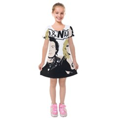 Sid And Nancy Kids  Short Sleeve Velvet Dress by Valentinaart