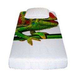 Chameleons Fitted Sheet (single Size) by Valentinaart
