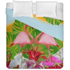 Flamingo Duvet Cover Double Side (california King Size) by Valentinaart