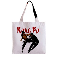 Kung Fu  Grocery Tote Bag by Valentinaart