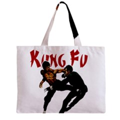 Kung Fu  Zipper Mini Tote Bag by Valentinaart