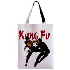 Kung Fu  Zipper Classic Tote Bag by Valentinaart