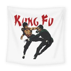 Kung Fu  Square Tapestry (large) by Valentinaart
