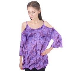 Purple Wall Background Flutter Tees