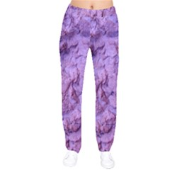Purple Wall Background Drawstring Pants by Costasonlineshop