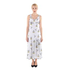 Cactus Pattern Sleeveless Maxi Dress by ValentinaDesign