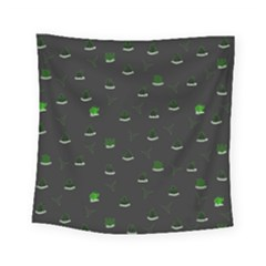 Cactus Pattern Square Tapestry (small) by ValentinaDesign