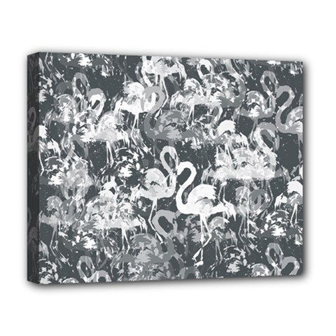 Flamingo Pattern Deluxe Canvas 20  X 16   by ValentinaDesign
