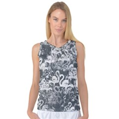 Flamingo Pattern Women s Basketball Tank Top by ValentinaDesign
