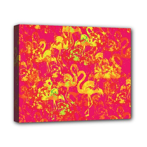 Flamingo Pattern Canvas 10  X 8  by ValentinaDesign