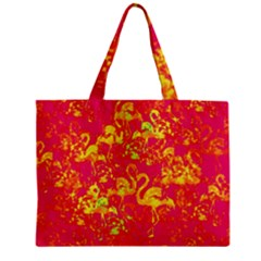 Flamingo Pattern Zipper Mini Tote Bag