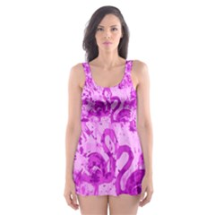Flamingo Pattern Skater Dress Swimsuit by ValentinaDesign
