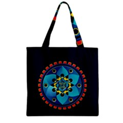 Abstract Mechanical Object Zipper Grocery Tote Bag