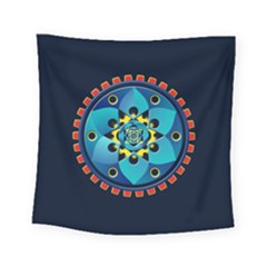 Abstract Mechanical Object Square Tapestry (small)