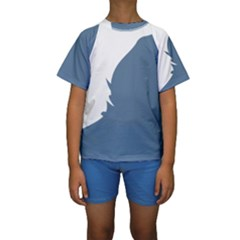 Blue White Hill Kids  Short Sleeve Swimwear