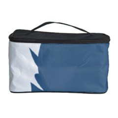 Blue White Hill Cosmetic Storage Case