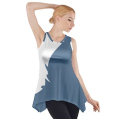 Blue White Hill Side Drop Tank Tunic