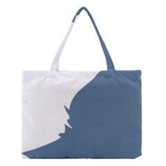 Blue White Hill Medium Tote Bag by Mariart
