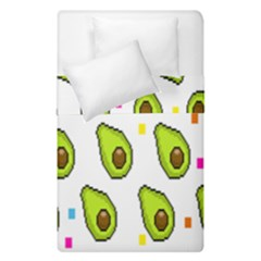 Avocado Seeds Green Fruit Plaid Duvet Cover Double Side (single Size) by Mariart
