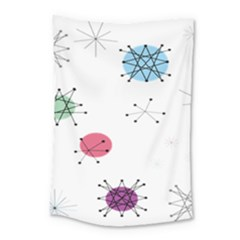 Atomic Starbursts Circle Line Polka Small Tapestry by Mariart