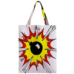 Book Explosion Boom Dinamite Zipper Classic Tote Bag by Mariart