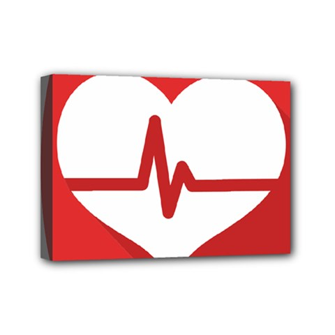 Cardiologist Hypertension Rheumatology Specialists Heart Rate Red Love Mini Canvas 7  X 5  by Mariart