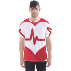 Cardiologist Hypertension Rheumatology Specialists Heart Rate Red Love Men s Sport Mesh Tee by Mariart