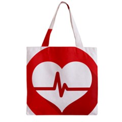 Cardiologist Hypertension Rheumatology Specialists Heart Rate Red Love Zipper Grocery Tote Bag by Mariart