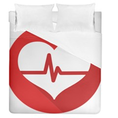 Cardiologist Hypertension Rheumatology Specialists Heart Rate Red Love Duvet Cover (queen Size) by Mariart