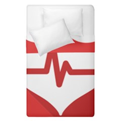 Cardiologist Hypertension Rheumatology Specialists Heart Rate Red Love Duvet Cover Double Side (single Size) by Mariart