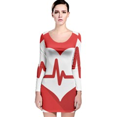 Cardiologist Hypertension Rheumatology Specialists Heart Rate Red Love Long Sleeve Velvet Bodycon Dress by Mariart
