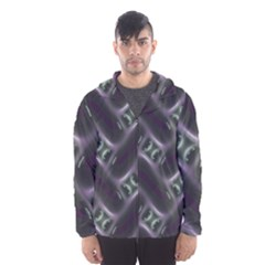 Closeup Purple Line Hooded Wind Breaker (men)