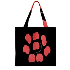Craft Pink Black Polka Spot Grocery Tote Bag by Mariart