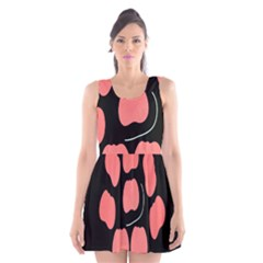 Craft Pink Black Polka Spot Scoop Neck Skater Dress