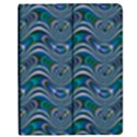 Boomarang Pattern Wave Waves Chevron Green Line Apple iPad 2 Flip Case View1