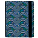 Boomarang Pattern Wave Waves Chevron Green Line Apple iPad 2 Flip Case View2