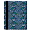 Boomarang Pattern Wave Waves Chevron Green Line Apple iPad 2 Flip Case View3