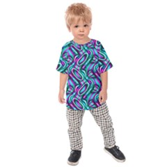 Circle Purple Green Wave Chevron Waves Kids  Raglan Tee by Mariart