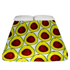 Avocados Seeds Yellow Brown Greeen Fitted Sheet (queen Size) by Mariart