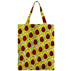Avocados Seeds Yellow Brown Greeen Zipper Classic Tote Bag by Mariart