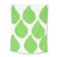 Green Water Rain Medium Tapestry by Mariart