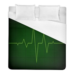 Heart Rate Green Line Light Healty Duvet Cover (full/ Double Size) by Mariart