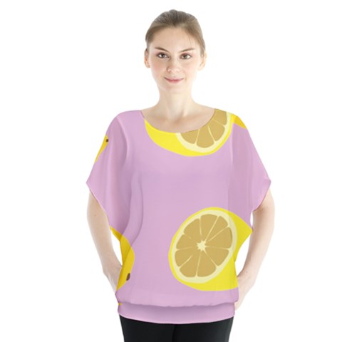 Fruit Lemons Orange Purple Blouse by Mariart