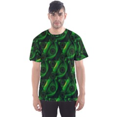 Green Eye Line Triangle Poljka Men s Sport Mesh Tee