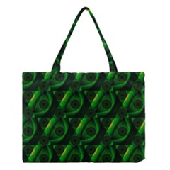 Green Eye Line Triangle Poljka Medium Tote Bag by Mariart