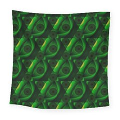 Green Eye Line Triangle Poljka Square Tapestry (large) by Mariart