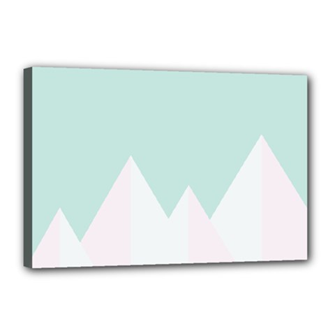 Montain Blue Snow Chevron Wave Pink Canvas 18  X 12  by Mariart