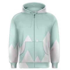 Montain Blue Snow Chevron Wave Pink Men s Zipper Hoodie by Mariart
