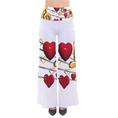 Music Notes Heart Beat Pants by Mariart